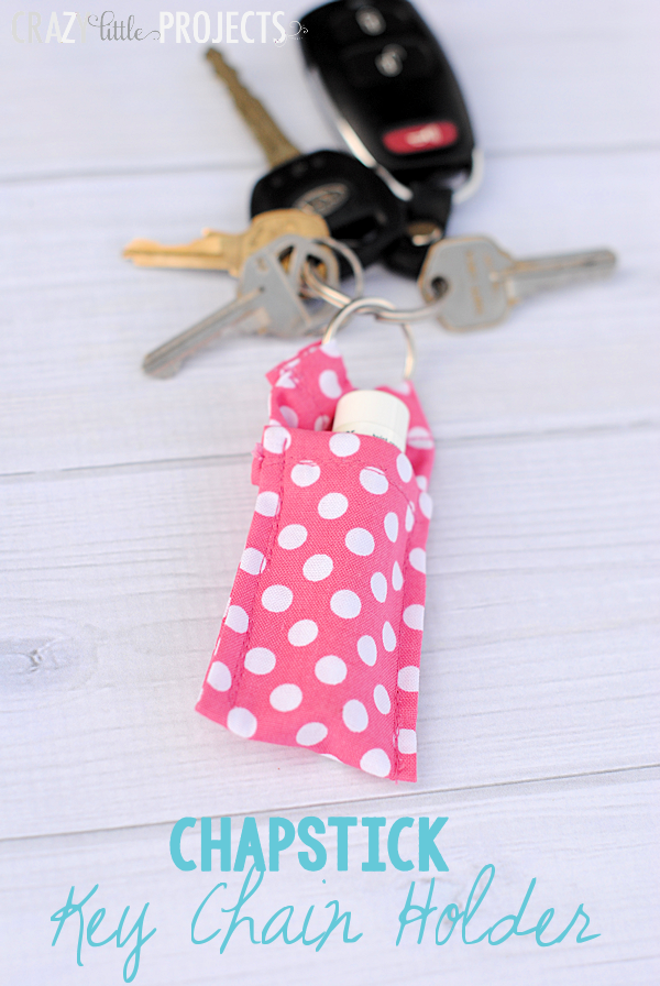 50 Crafts To Make and Sell - Easy DIY Ideas for Cheap Things To Sell on Etsy, Online and for Craft Fairs. Make Money with These Homemade Crafts for Teens, Kids, Christmas, Summer, Mother's Day Gifts. | Key Chain Chapstick Holder #crafts #diy