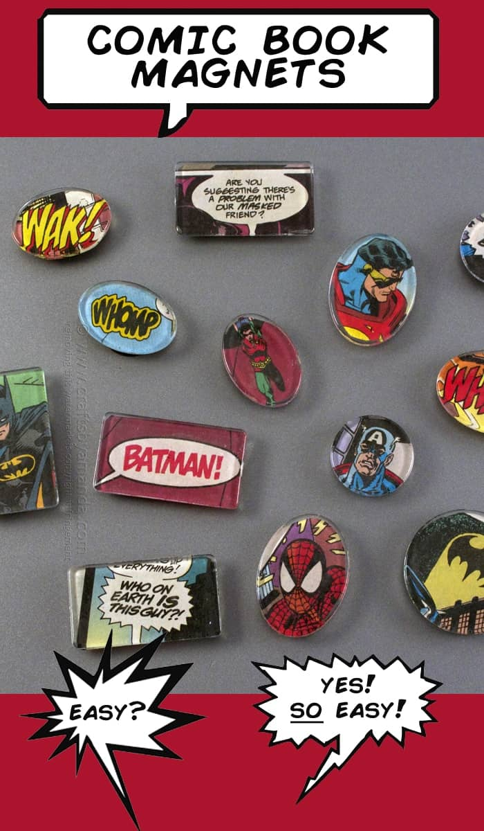 50 Crafts To Make and Sell - Easy DIY Ideas for Cheap Things To Sell on Etsy, Online and for Craft Fairs. Make Money with These Homemade Crafts for Teens, Kids, Christmas, Summer, Mother's Day Gifts. | Comic Book Magnets #crafts #diy