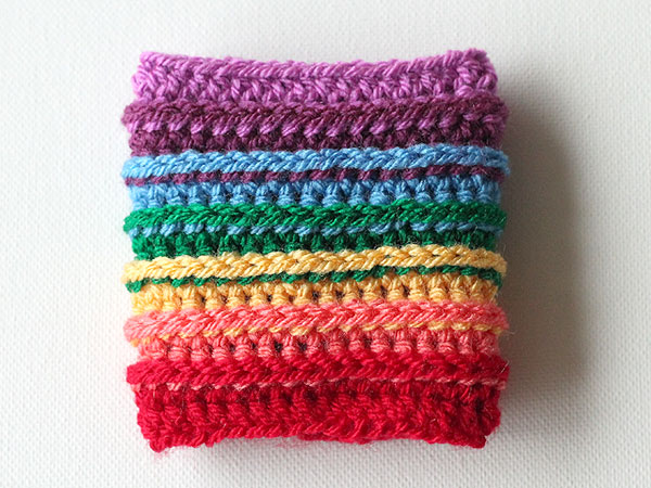 50 Crafts To Make and Sell - Easy DIY Ideas for Cheap Things To Sell on Etsy, Online and for Craft Fairs. Make Money with These Homemade Crafts for Teens, Kids, Christmas, Summer, Mother's Day Gifts. | Rainbow Crochet Cup Cozy #crafts #diy