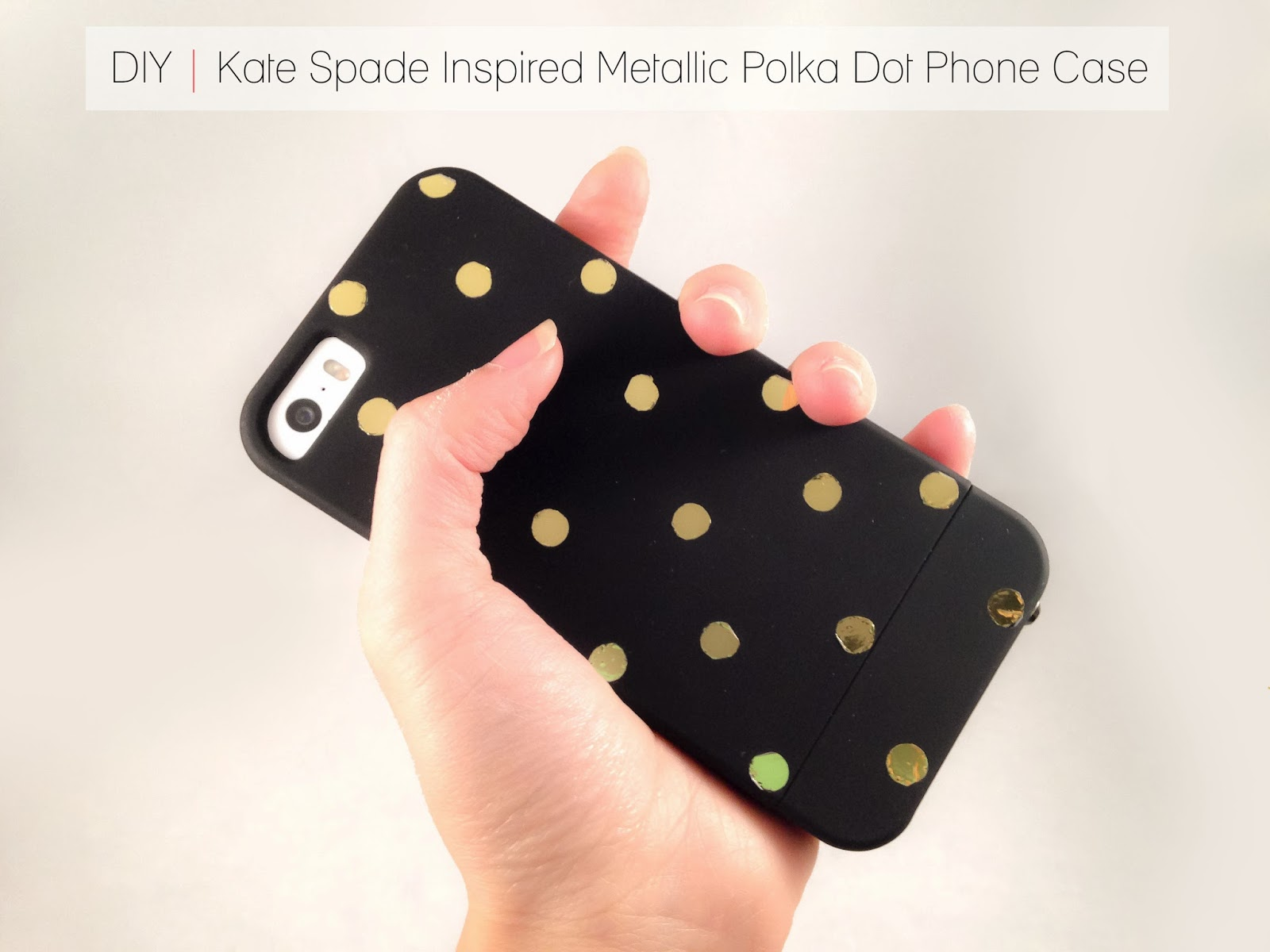 50 Crafts To Make and Sell - Easy DIY Ideas for Cheap Things To Sell on Etsy, Online and for Craft Fairs. Make Money with These Homemade Crafts for Teens, Kids, Christmas, Summer, Mother's Day Gifts. | DIY Kate Spade Inspired Metallic Polka Dot Phone Case #crafts #diy