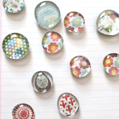 50 Crafts To Make and Sell - Easy DIY Ideas for Cheap Things To Sell on Etsy, Online and for Craft Fairs. Make Money with These Homemade Crafts for Teens, Kids, Christmas, Summer, Mother's Day Gifts. | Glass Pebble Magnet #crafts #diy