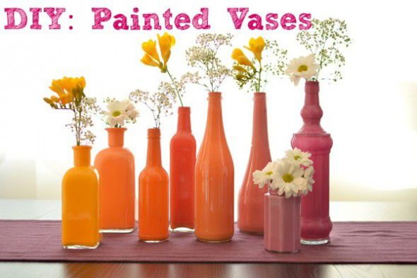 50 Crafts To Make and Sell - Easy DIY Ideas for Cheap Things To Sell on Etsy, Online and for Craft Fairs. Make Money with These Homemade Crafts for Teens, Kids, Christmas, Summer, Mother's Day Gifts. | DIY Painted Ombre Vases #crafts #diy