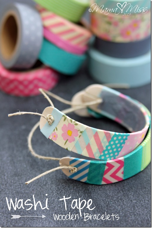 50 Crafts To Make and Sell - Easy DIY Ideas for Cheap Things To Sell on Etsy, Online and for Craft Fairs. Make Money with These Homemade Crafts for Teens, Kids, Christmas, Summer, Mother's Day Gifts. | Washi Tape Wooden Bracelets #crafts #diy